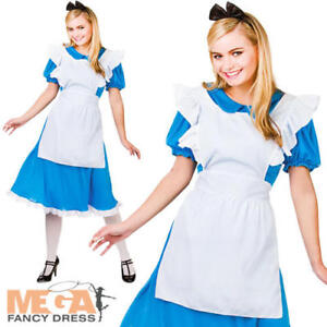 alice in wonderland ladies fancy dress fairytale book week womens adult costume ebay. Black Bedroom Furniture Sets. Home Design Ideas