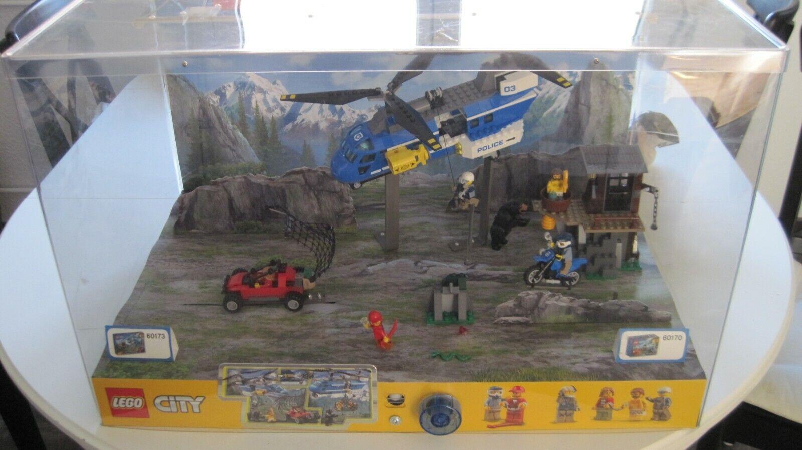 Lego City desfilando con iluminación