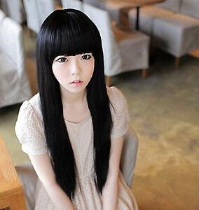 JONI: Black hair with fringe