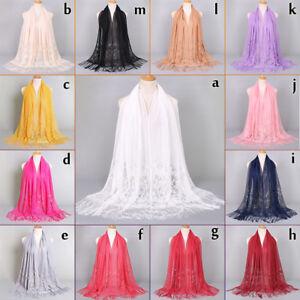 Floral-Lace-Edges-Hijab-Shawl-Cotton-Muslim-Scarves-Scarf-Women-Plain-Maxi-Scarf