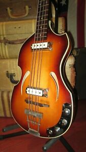 Vintage 1960s Klira Bass Project Needs Work Like Hofner Beatle Bass Pickups Cool