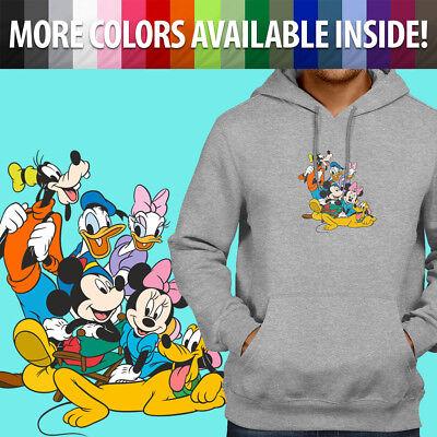 Mickey Mouse Head Santa Hat Disney Christmas Pullover Sweatshirt Hoodie Sweater