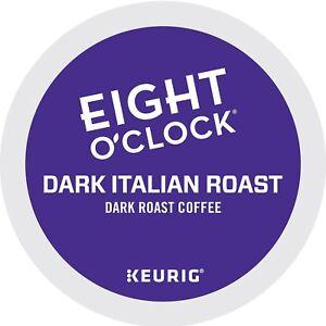 Eight-O-039-Clock-Coffee-Dark-Italian-Roast-Keurig-Single-Serve-K-Cup-Pods-Dark