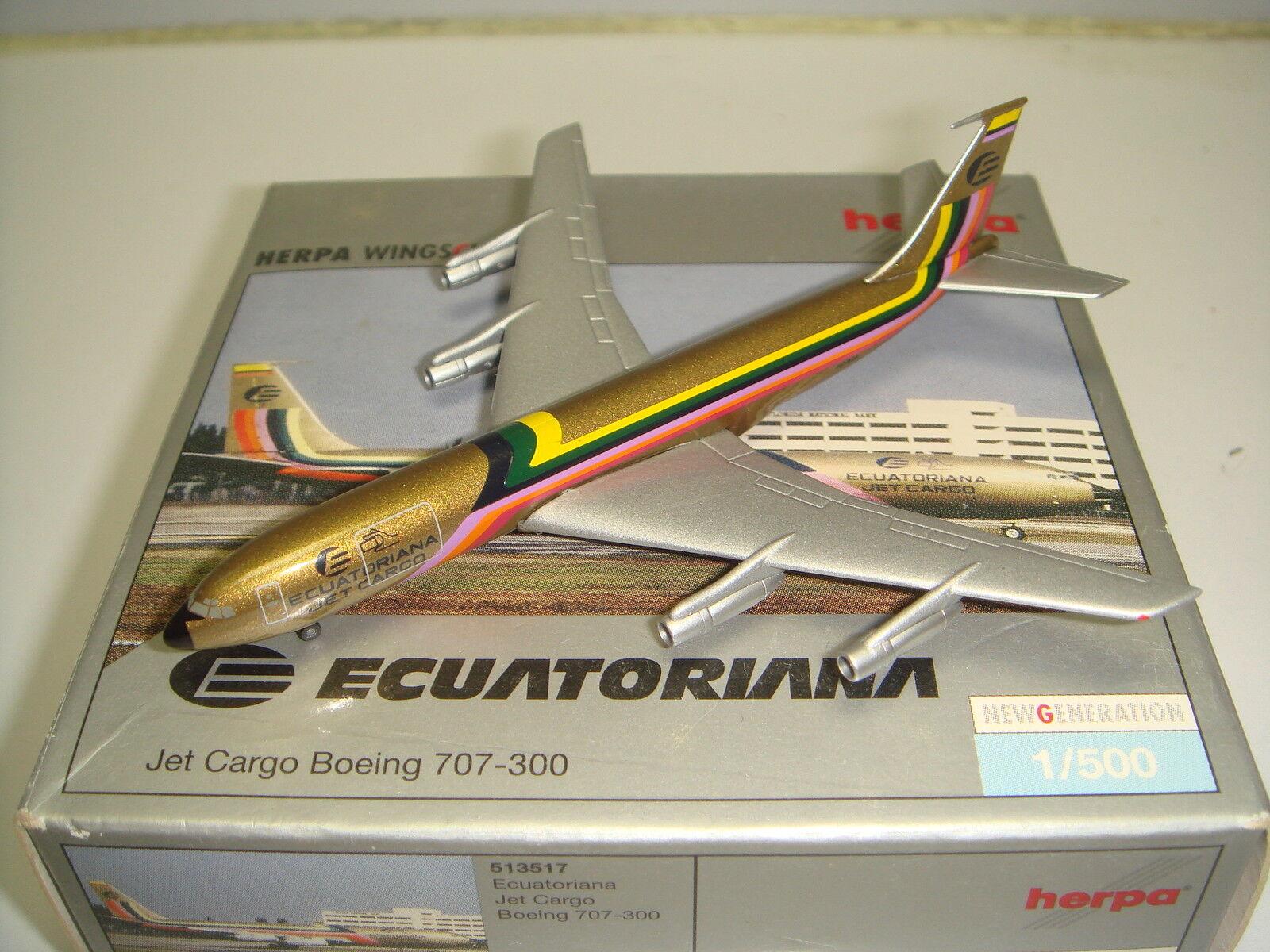 ventas en linea Herpa Wings 500 ecuatoriana de de de Cochega B707-300F  1970s Color-club Modelo  1 500 NG  tienda de venta