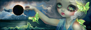 Jasmine-Becket-Griffith-art-BIG-print-moon-moth-butterfly-SIGNED-Luna-Eclipse