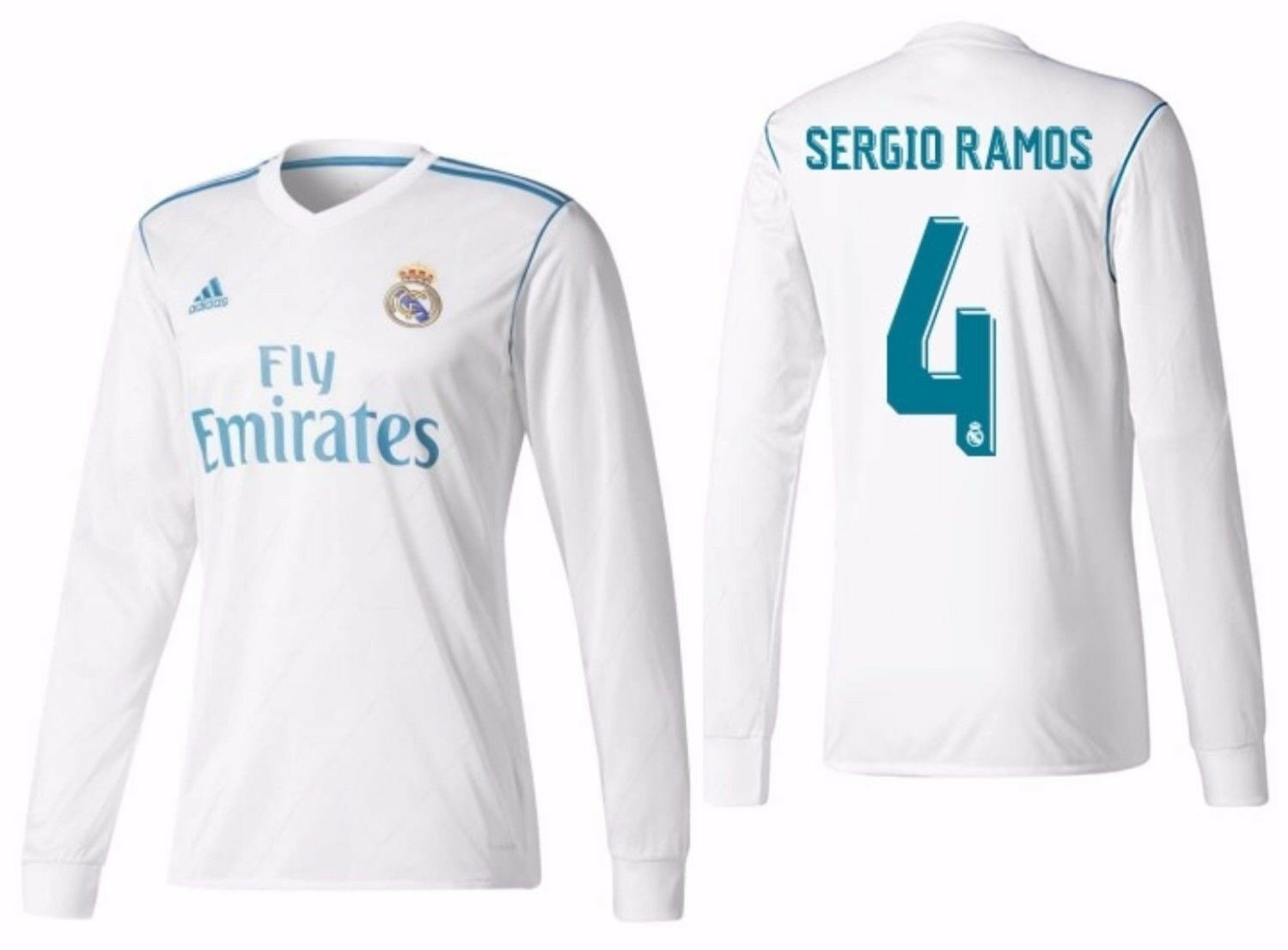 Adidas Sergio Ramos Real Madrid Manga Larga Home Jersey 2017 18
