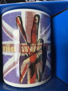 The Who Rock Band Coffee Mug Cup 2010 Live Nation Music Peace Sign Holds 8 Oz