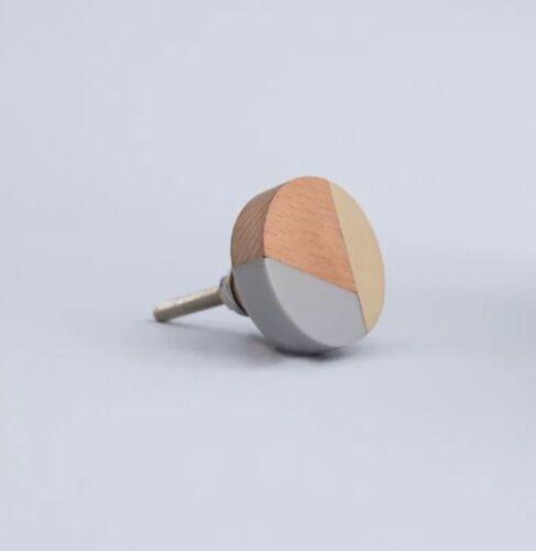 Resina de madera y oro gris Latón Cajón Gabinete Manija Perilla de medios mixtos Bombay Duck