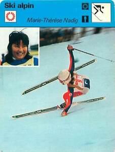 FICHE-CARD-Marie-Theres-Nadig-Suisse-Slalom-skier-Alpine-skiing-SKI-ALPIN-1970s