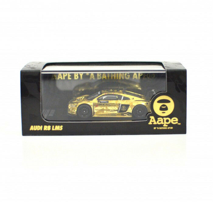 Tarmac Works x Aape - Audi R8 LMS 1 64 in golden color , Aape Special Edition