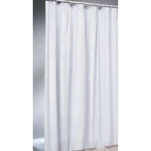 Image Is Loading Textile Shower Curtain White 120x200 Cm Weighing Down