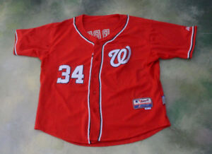 0d9b17bd7 Image is loading Majestic-MLB-Washington-Nationals-Bryce-Harper-34-Jersey-