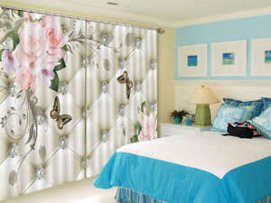 Bright-Diamond-Flowers-3D-Curtain-Blockout-Photo-Printing-Curtains-Drape-Fabric