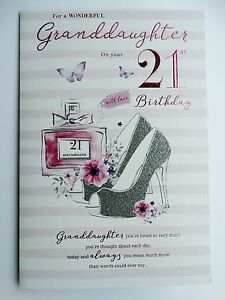 Image Is Loading Granddaughter 21st 21 Perfume Shoes Amp Butterfly Design