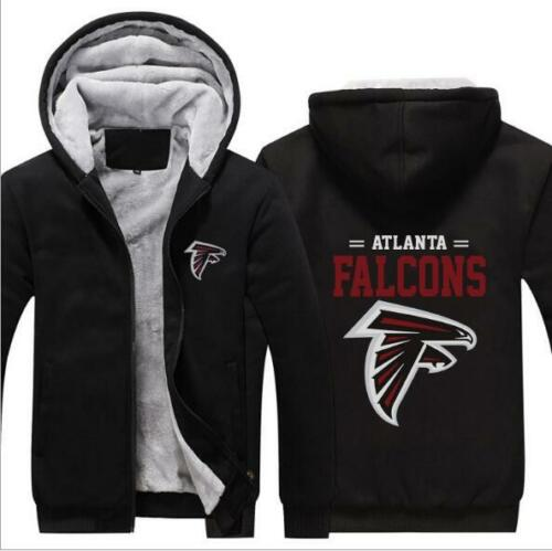 Thick Hoodie Atlanta Falcons Printed Long Sleeve Zipper Hat Hoode M-6XL 4 Style