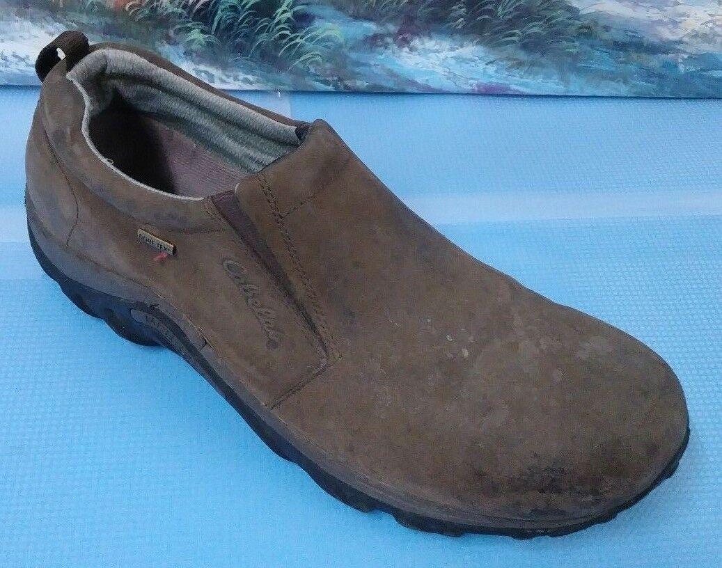 Merrell Cabelas Marronee Leather Moc Comfort & Walre sautope Dimensione 12 Sautope classeiche da uomo