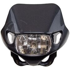 Carbon Mirage Street Fighter Universal Upper Headlight Fairing Stunt Light