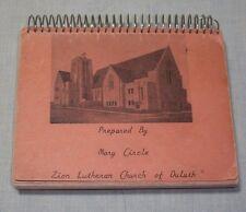VINTAGE ZION LUTHERAN CHURCH COOKBOOK MN DULUTH MINNESOTA