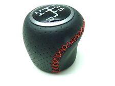 Fiat Punto Evo Racing Black Leather Gear Knob Red Stitching Brand New Genuine