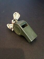 ***RARE*** US ARMY SURPLUS-FIELD WHISTLE-Vintage Military, Bug Out Bag, OD GREEN
