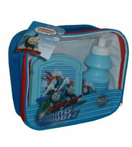 Thomas The Tank Engine 3 Piece Lunch Bag With Bottle /& Sandwich Box