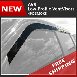 15-18 Chevy Silverado 2500HD Crew Cab AVS LOW PROFILE Window Visors Rain Guards