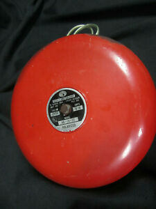 Vintage-Hock-X1-America-big-Red-10-039-039-Fire-Bell