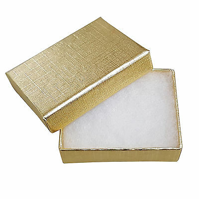Cardboard Jewellery Gift Box Cotton Cushion Foil Wholesale Bulk Studs Charms