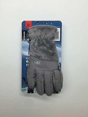 NWT Jr Kids HEAD Black ThermalFUR Fleece Gloves Medium Ages 7-10