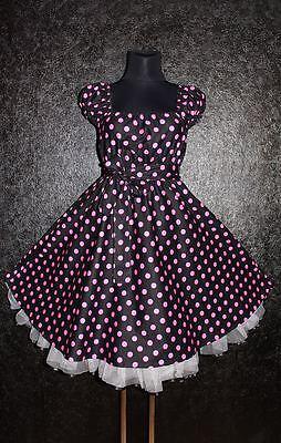Gr 48 50 52 ROCKABILLY 50er Petticoat KLEID Pin Up Abend ...