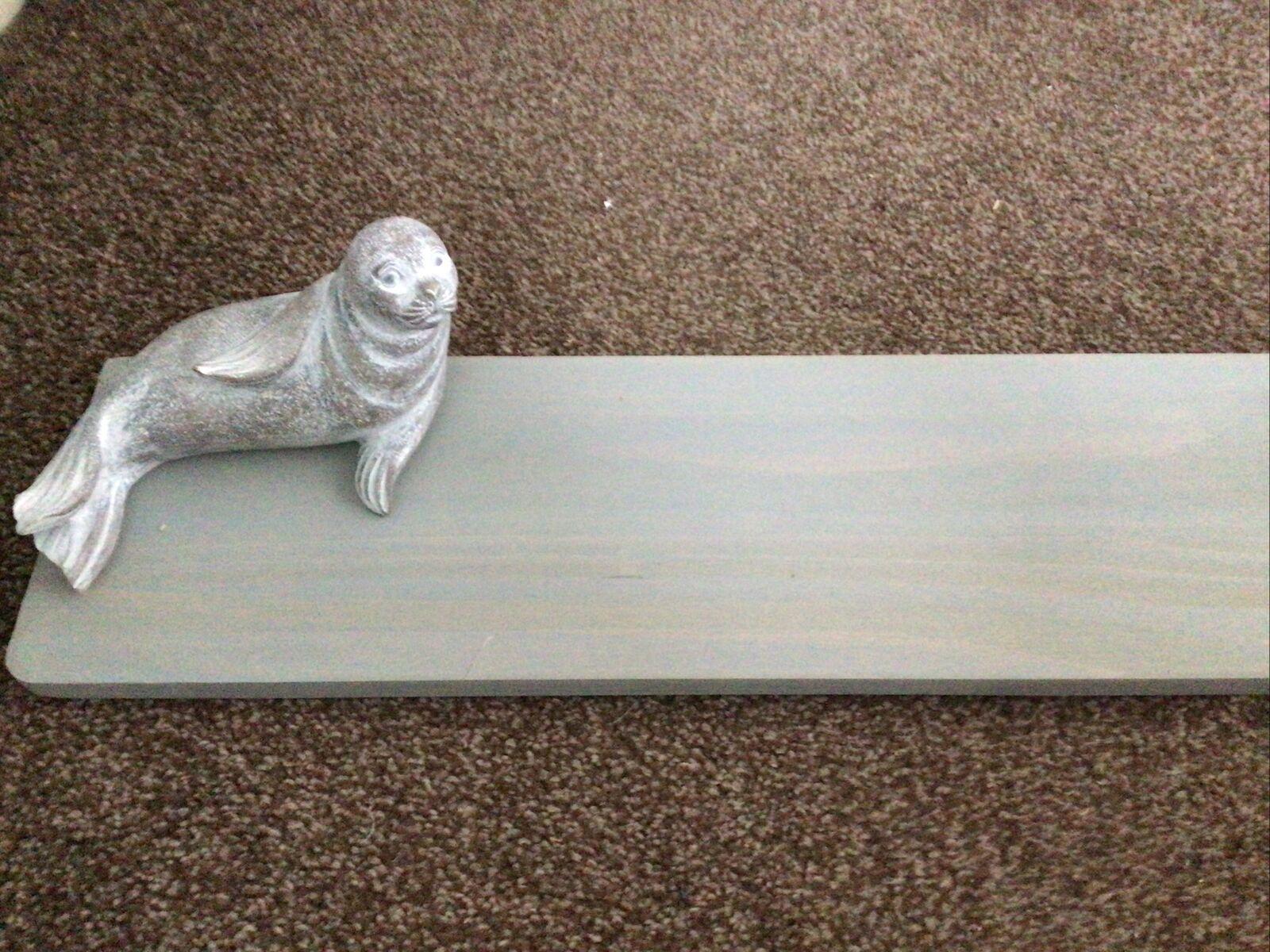 "BNIB Gorgeous Next Grey Wooden Seal Shelf 24"" X5"" Lovely Item"