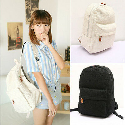 Women Lace Canvas Backpack Bag Girls School Bookbags Casual Travel Shoulder Bags