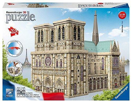 Nuovo Ravensburger Notre Dame Francia 324pc 3D Puzzle 12523