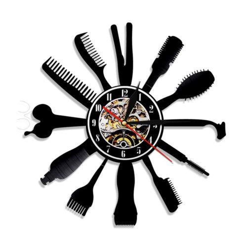 Hairdresser Barber Shop Vinyl Wall Clock Clock Gift for Barber Hair Beauty Salon