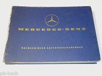Teilekatalog Spare Parts List Mercedes Benz Ponton W121 Typ 190 Db, St.06/1959