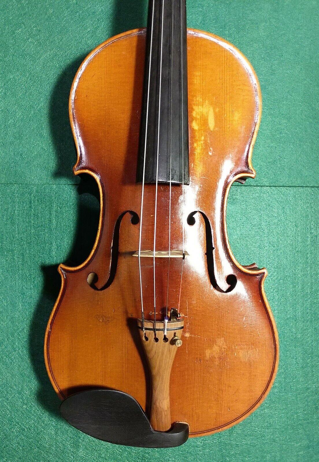Schöne Alte Böhmische Geige Josef Lidl, v Brne Zelny trh.
