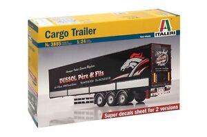 Remorque de cargaison, nouvelle version, kit plastique 1:24, modèle 3885 Italeri