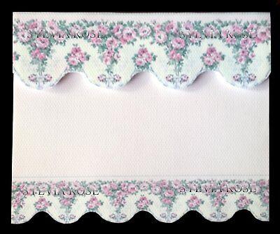 Di Carattere Dolce Pretty Pink/bianco A Fiori Tenda/tenda/drappo Per Casa Delle Bambole-mostra Il Titolo Originale