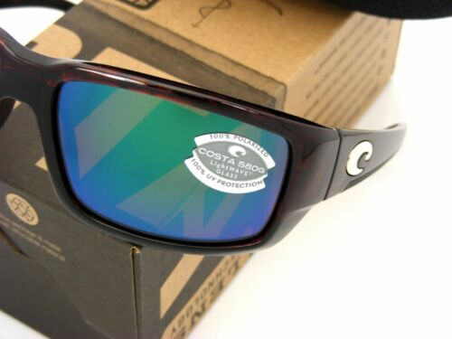 NEW Costa Del Mar FANTAIL Tortoise /& 580 Green Mirror Glass 580G
