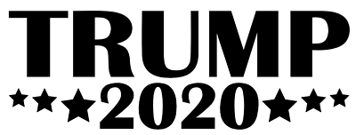 DONALD TRUMP 2020 Vinyl Decal Sticker RNC Car Wall President Campaign White