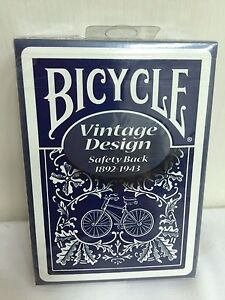 1 Deck Bicycle Vintage Design Safety Back Playing Cards