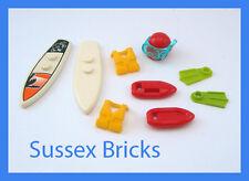 LEGO City - 2x Tavola da Surf Life Guard galleggia Gilet Boccaglio FLIPPER Beach SERIE 2