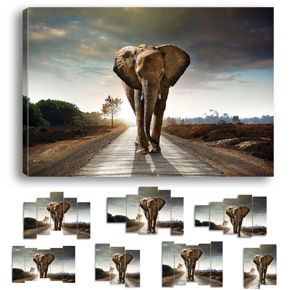 Cuadro Elefante Naturaleza Art Déco Mural - EL-10