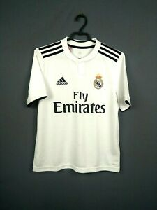 Real Madrid Jersey Youth 13-14 y 2018 2019 Home Shirt Adidas Soccer CG0554 ig93