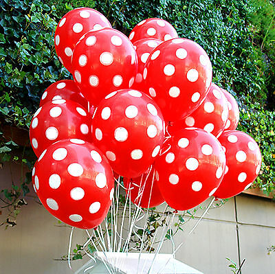 20X Mickey Mouse Red Polka dots Balloons Party Supplies Birthday decorations