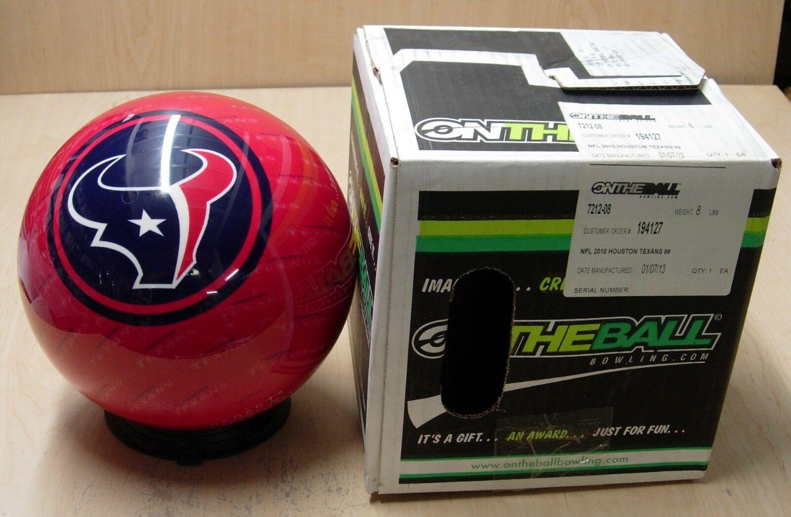 8oz TW 1.4 Bowling Ball OTB Viz-A-Ball Retired 2010 NFL Houston TEXANS