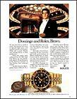 1989 Rolex GMT Master 18kt Gold watch Placido Domingo retro photo print ad ads69