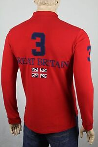 Ralph Lauren Large L Red Great Britain Custom Fit Big Navy Pony NWT $145