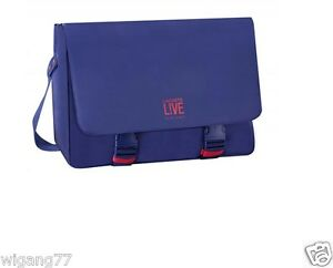 e4b348c0d0 Image is loading LACOSTE-LIVE-PARFUMS-BLUE-MESSENGER-SHOULDER-LAPTOP-BNIB-