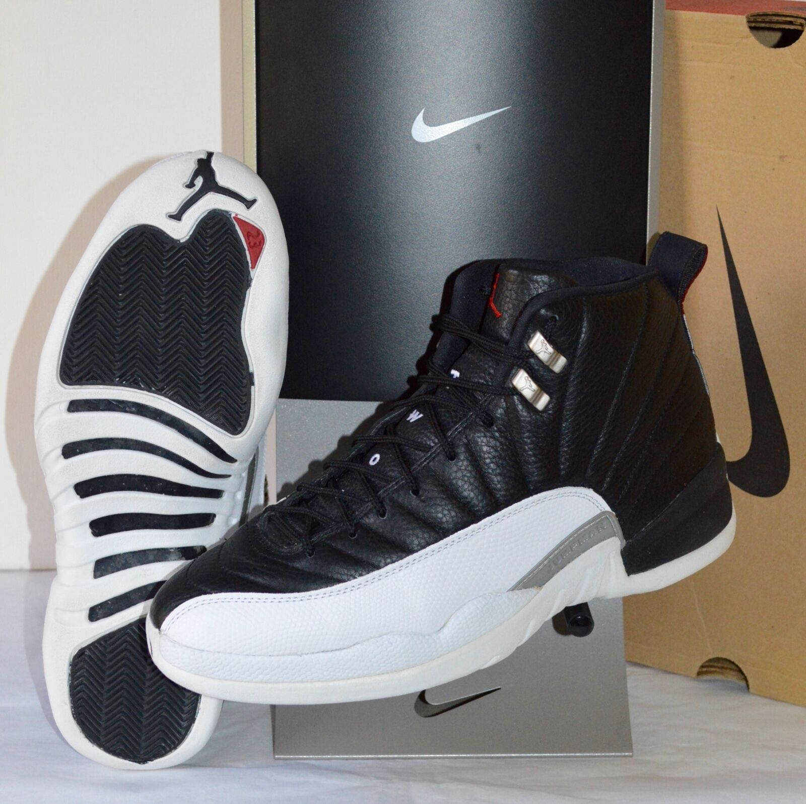 1997 Nike Air Jordan XII Black/White/Varsity Red Playoffs OG Mid VNDS Price reduction The most popular shoes for men and women